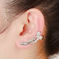 cheap clip on earrings wlp brand jewelry 2017 gold silver rhinestone earring for