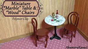 Armchair Tables Miniature Marble Table U0026 Chairs Polymer Clay Tutorial Youtube