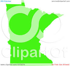 State Of Mn Map by Clipart Of A Lyme Disease Awareness Lime Green Colored Silhouetted