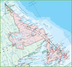 Map Of Canada Cities And Provinces by Large Detailed Map Of Newfoundland And Labrador With Cities And Towns