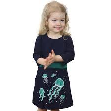 jellyfish dress bioluminescent jellyfish glow in the fit flare kids dress