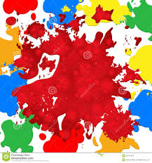 Red Color Meaning Paint Color Shows Backdrop Blot And Vibrant Stock Illustration