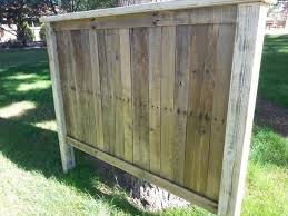Pallet Wood Headboard Diy Pallet Wood Headboard Pallet Furniture Plans