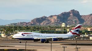 Phoenix Airport Terminal Map by Second British Airways Flight To Resume At Phoenix Sky Harbor
