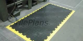 anti fatigue industrial matting chequer plate floor tiles
