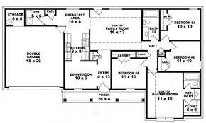 One Story Floor Plans by One Story Ranch House Plans Inside 4 Bedroom 2 Story 5 Bedroom