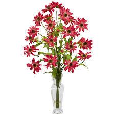decorating roses with cylinder vase silk flower arrangements for
