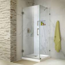 frameless corner shower doors shower doors the home depot frameless hinged shower