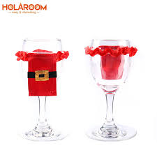 wine glass christmas ornaments 8 pcs santa claus cup sleeve cover christmas wine glass flute