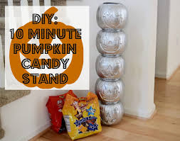 Candy Crafts For Halloween by Diy 10 Minute Pumpkin Candy Stand Anchors Aweigh