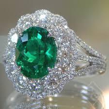 diamond jewelry rings images Simon g oval cut emerald halo diamond ring jpg