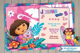 the explorer birthday invitation dora birthday invitation