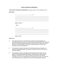 asset purchase agreement confidential asset purchase agreement