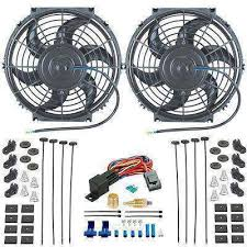 10 inch radiator fan dual 10 inch electric radiator a c fans thermostat ground