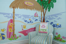wall murals art decor for baby nurseries children s rooms beach shack wall mural turn any room into a bit of paradise with this beautiful beach mural snuggle a crib or bed under the shack to act as a headboard