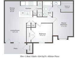 2 bedroom 1 bath floor plans 2 bedroom apartment floor plans pricing allister place ta fl