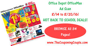 Office Depot by Office Depot Officemax Ad Scan For 8 14 To 8 20 16 Browse All 34