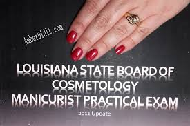 It Technician Business Card Amber Did It Louisiana State Board Of Cosmetology Manicuring Exam