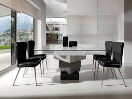Square Glass Dining Table Modern Square Glass And High Gloss Or Grey Dining Table