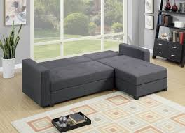 Reversible Sectional Sofa Chaise by F7896 Gray Reversible Chaise Sectional Sofa By Poundex