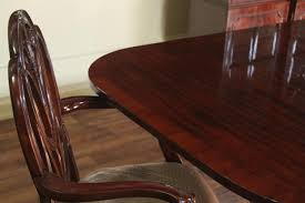 Mahogany Dining Room Chairs Traditional Formal Red Mahogany Dining Table Seats 14 People