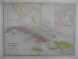 Blank Outline Map Of Jamaica by Maps Antique Country Jamaica