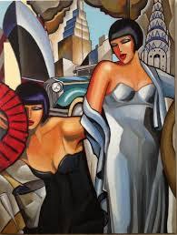 art deco painting paris