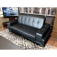 Sofa Casa Leather Ames 3 Seater Sofa Casa Black