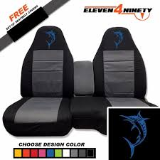 Ford Ranger Design 91 03 Ford Ranger 60 40 Black Charcoal Seat Covers Marlin Logo