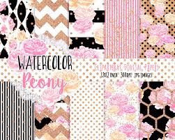 halloween colored scrapbooking background papers watercolor floral digital paper pack black white pink u0026 rose