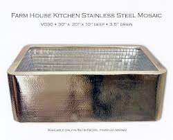 linkasink hammered copper kitchen farm sink
