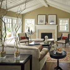 traditional livingroom traditional living room with box ceiling high ceiling cement