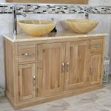 oak bathroom vanity cabinet double twin sink bowl basin u0026 golden