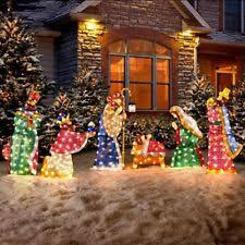 pre lighted and winter yard décor ebay