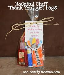 a thank you gift bag that is perfect for the hospital staff