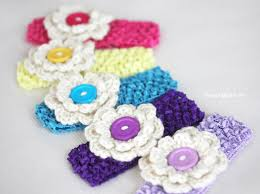 How To Make Flower Hair Clips - crochet hair clips repeat crafter me