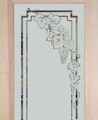 Grape Kitchen Decor by Etched Glass Designs For Kitchen Cabinets Frosted Glass Cabinets