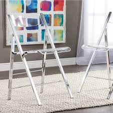 baxton studio folding tables chairs kitchen dining room clear acrylic folding chair set of 2