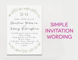 wedding invite exles simple wedding invitation wording sansalvaje