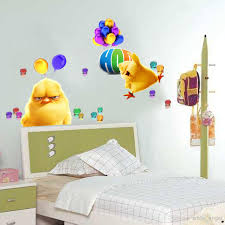 Hop Despicable Me 2 Minion Movie Decal Wall Stickers Cute Chicken