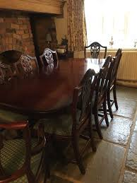 bridgecraft mahogany dining table with 8 chairs in hinckley