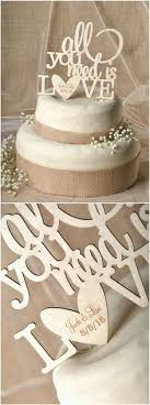 all you need is cake topper all you need is wedding wooden cake topper