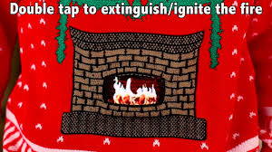 knitted crackling fireplace sweater digital dudz