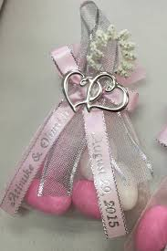personalized ribbons for favors decorated organza bag w almonds personalized ribbons