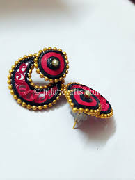 quiling earrings chandbali quilling earrings with golden all ap crafts