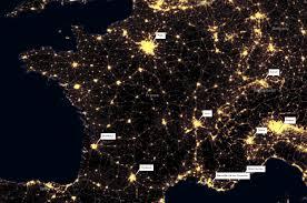 World Map At Night by The World At Night