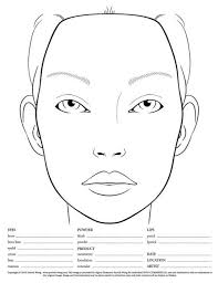 i m a makeup artist you see a blank face chart
