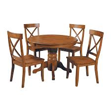 shop home styles cottage oak dining set with round dining table at