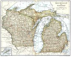 Wisconsin On The Map by Wisconsin State Map Black