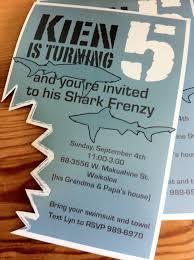 shark birthday invitations my dizzy daisies kien u0027s shark attack birthday bash